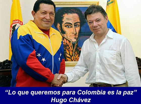 Chavez lo que queremos para Colombia es la Paz