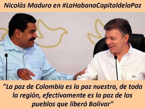 Maduro en la firma de la Paz en Colombia
